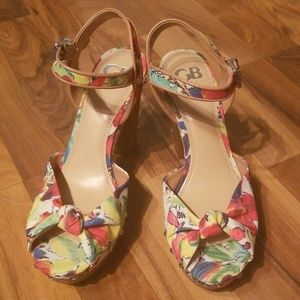 Womens Size 9.5 M Gianni Bini Open Toe Heels